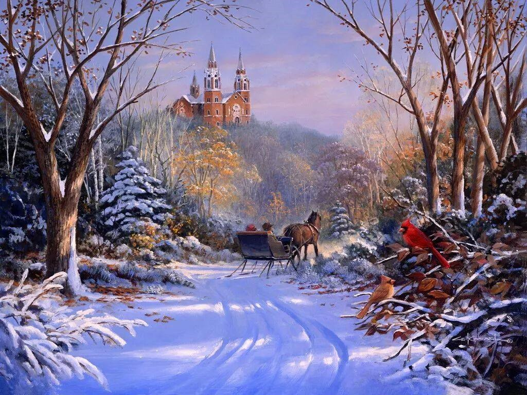 Snow Village 3d Live Wallpaper And Screensaver Download Old Fashioned Christmas Wallpaper Gallery