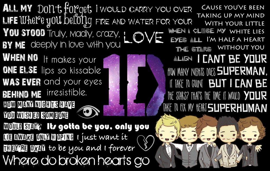 Free Download Hd 3d Wallpapers For Android Download One Direction Lyrics Wallpaper Gallery