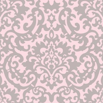 Feature Wall Wallpaper 3d Download Pink And Silver Damask Wallpaper Gallery