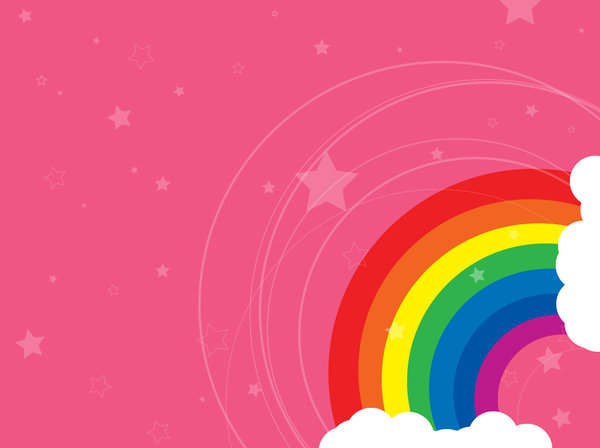 Moving Wallpapers For Girls Download Pink Rainbow Wallpaper Gallery
