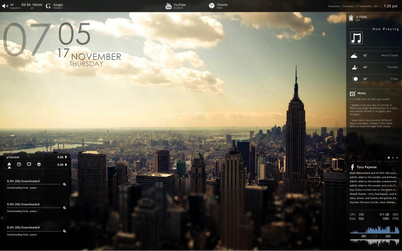 3d Clock Live Wallpaper Download Rainmeter Wallpaper Gallery