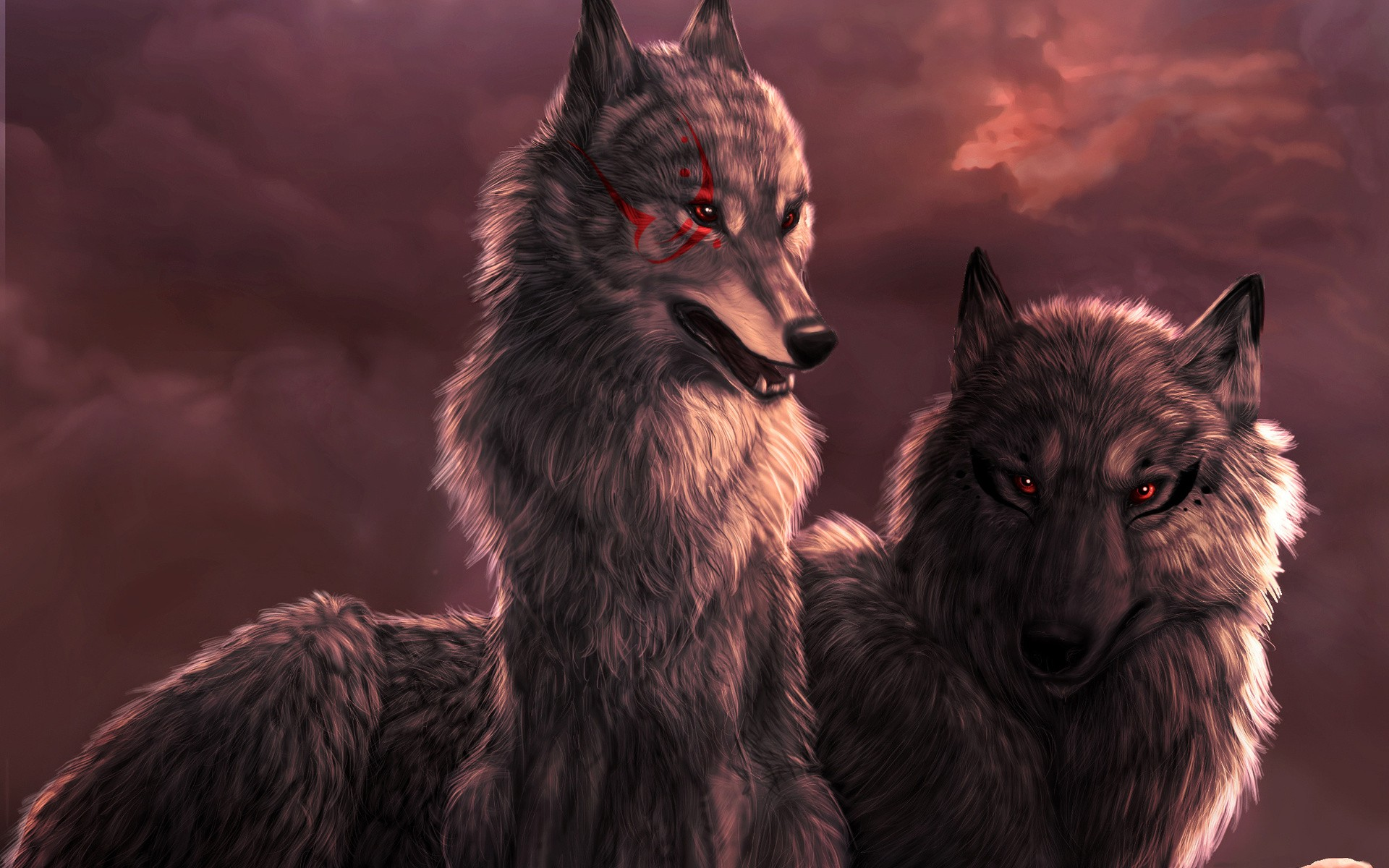 3d Changing Wallpaper Download Red Wolf Wallpaper Gallery