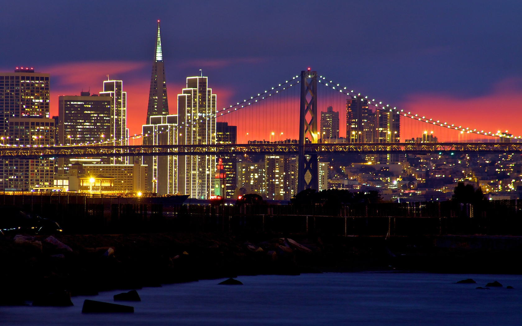 3d Moving Wallpapers City Lights Download San Francisco At Night Wallpaper Gallery