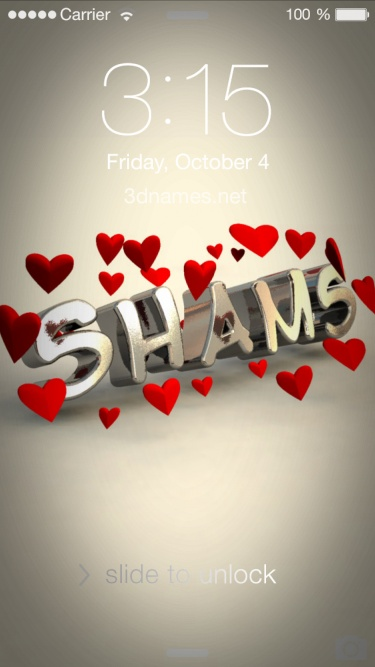 Download 3d Live Wallpaper For Android Mobile Download Shams Name Wallpaper Gallery