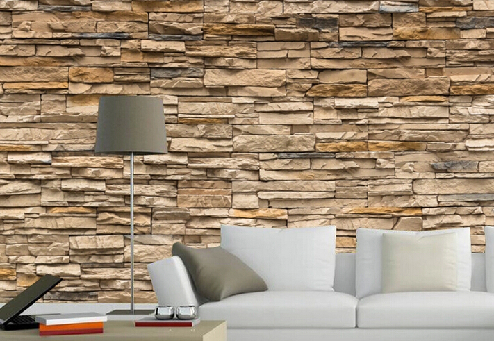 3d Effect Stone Brick Wall Textured Vinyl Wallpaper Download Wallpaper That Looks Like Brick Gallery