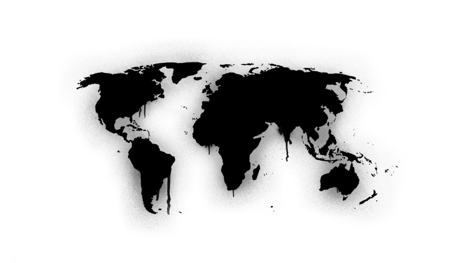 Download Free 3d Wallpapers For Windows 8 Download World Map Wallpaper Black And White Gallery