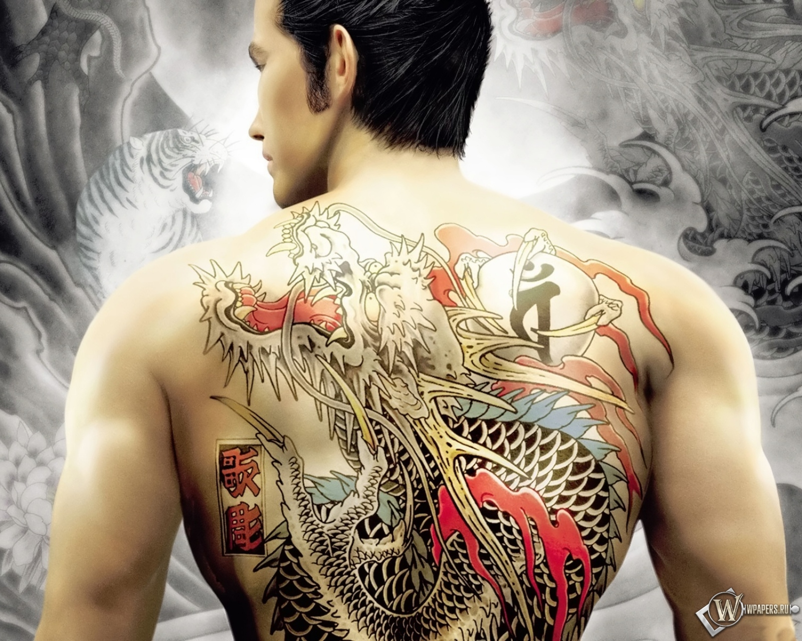 3d Live Wallpaper For Iphone 4s Download Yakuza Tattoo Wallpaper Gallery