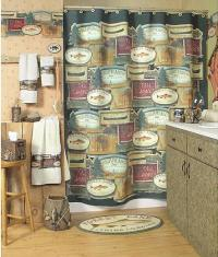 Wall Home Decor: Fishing Lodge Bathroom Accessories