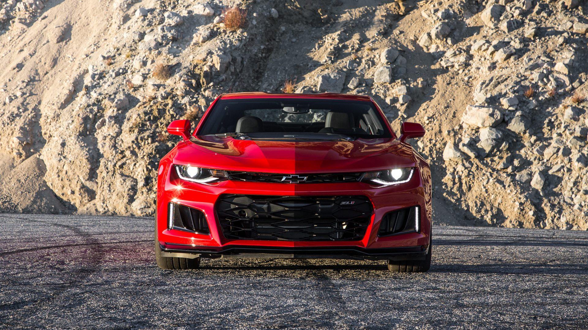 8k Car Wallpaper Download 2017 Chevrolet Camaro Zl1 Red Wallpaper Hd Wallpaper