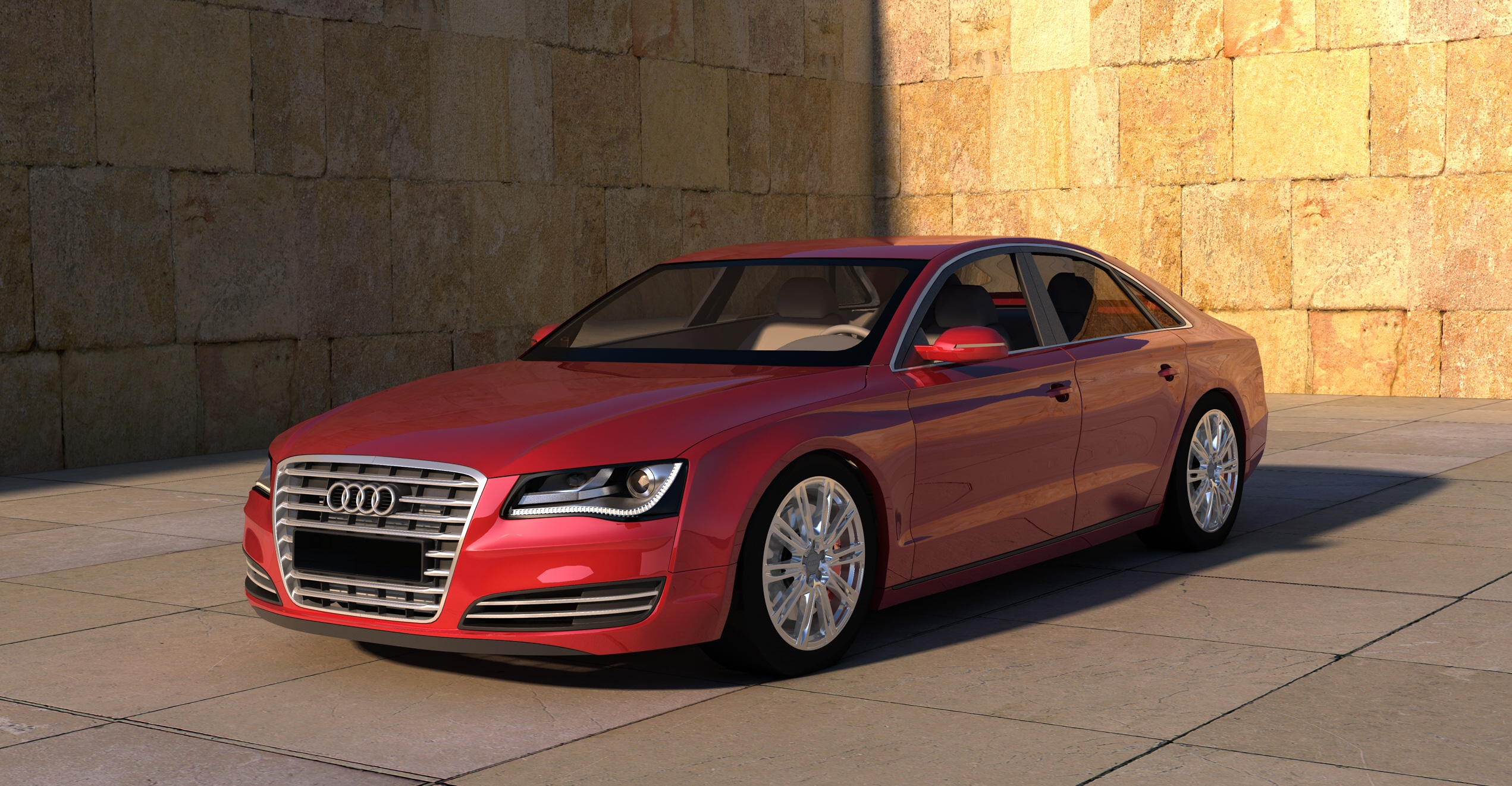 8k Car Wallpaper Download Audi A8 Red Wallpaper Background