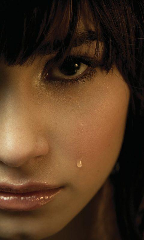 Sad Girl Crying Wallpaper Download Demi Lovato Tears 4k Wallpaper Hd Wallpaper Background