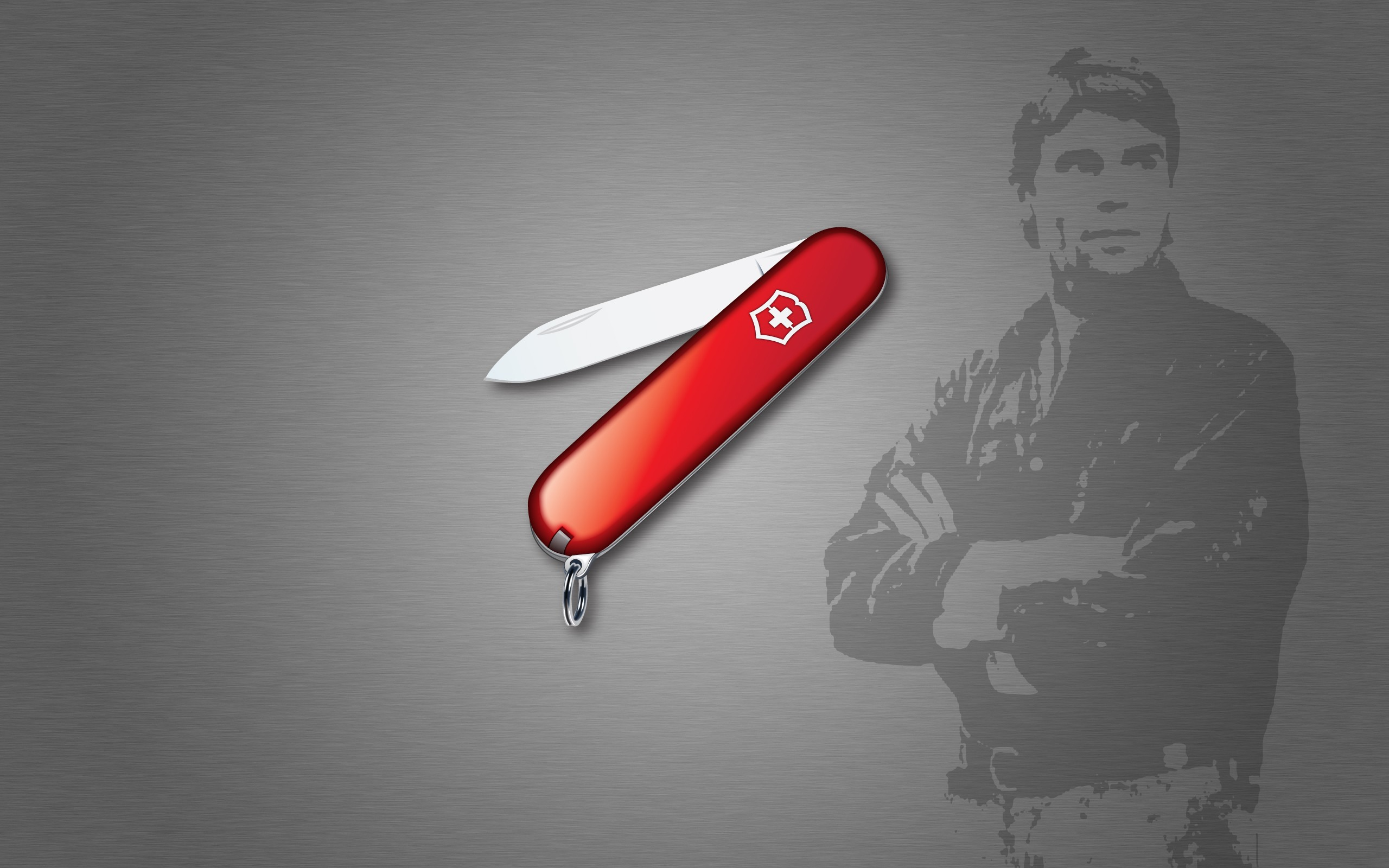 Iphone Wallpaper Resolution Minimalistic Silhouette Stencil Knives Gradient Swiss Army