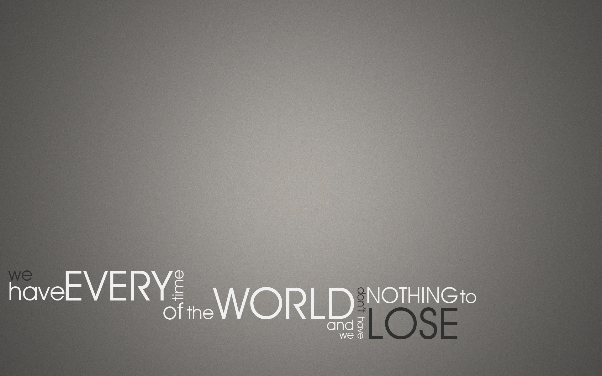 Chevron Quote Wallpaper World Quotes Typography Selective Coloring Time Lose