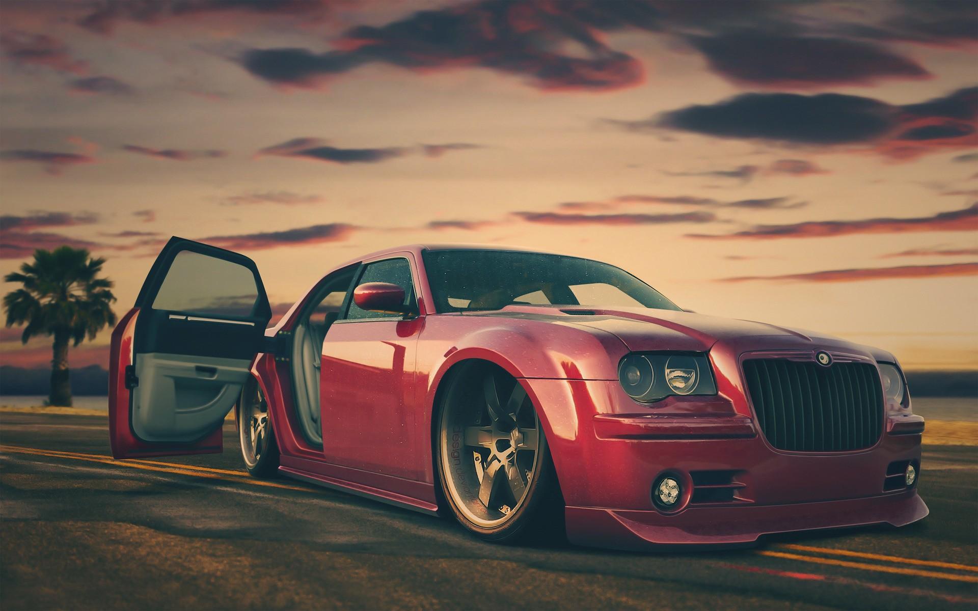 1968 Dodge Charger Wallpaper Cars Red Cars Custom Chrysler Tuning Chrysler 300c Wallpaper