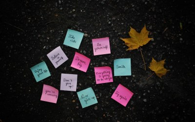 Texts leaves quotes post it note notes wallpaper | 2560x1600 | 16230 | WallpaperUP