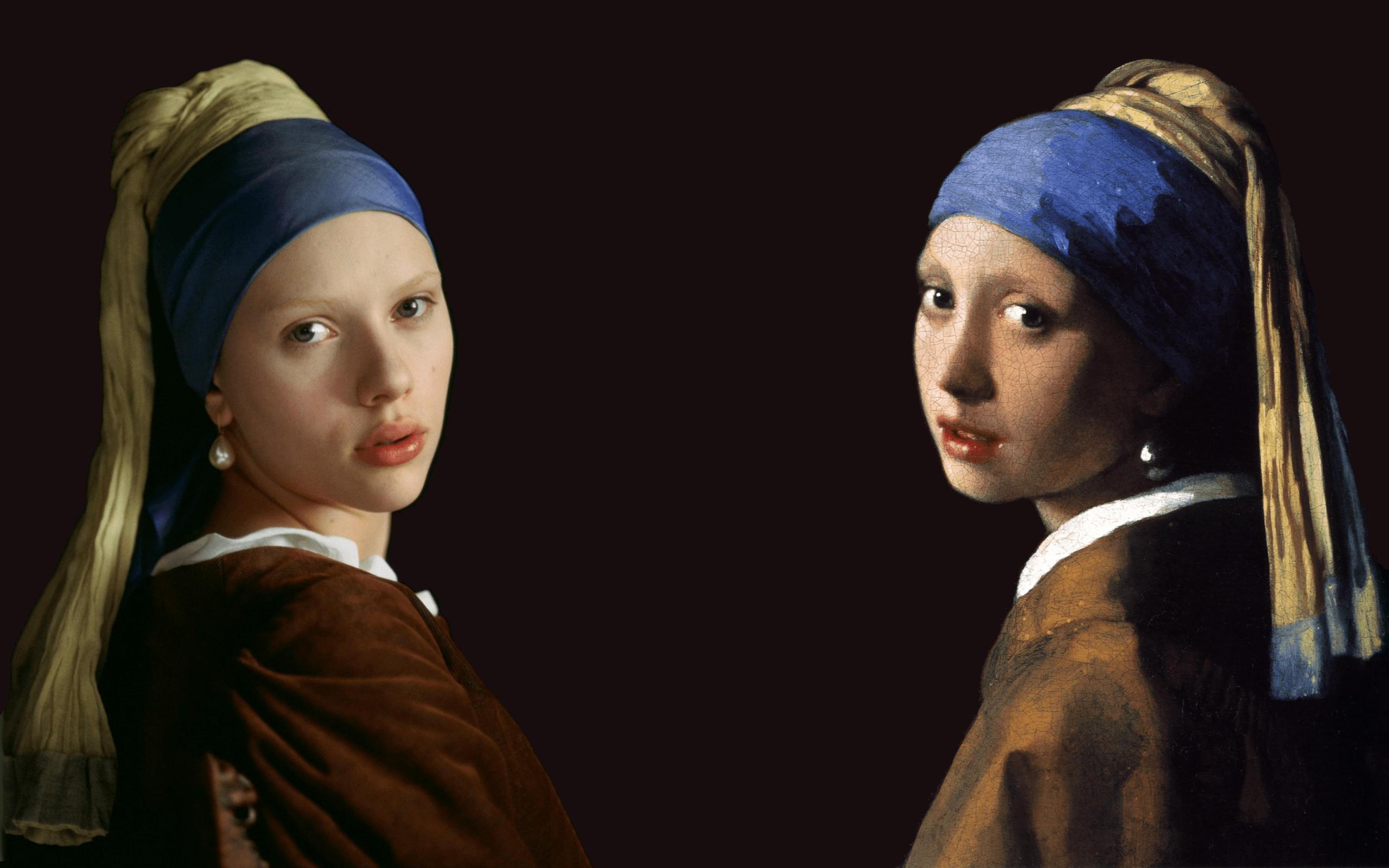 Girl Wallpaper Paintings Scarlett Johansson Artwork Johannes Vermeer The