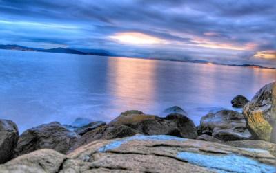 Sunset ocean landscapes beach rocks seaside wallpaper | 1920x1200 | 17112 | WallpaperUP