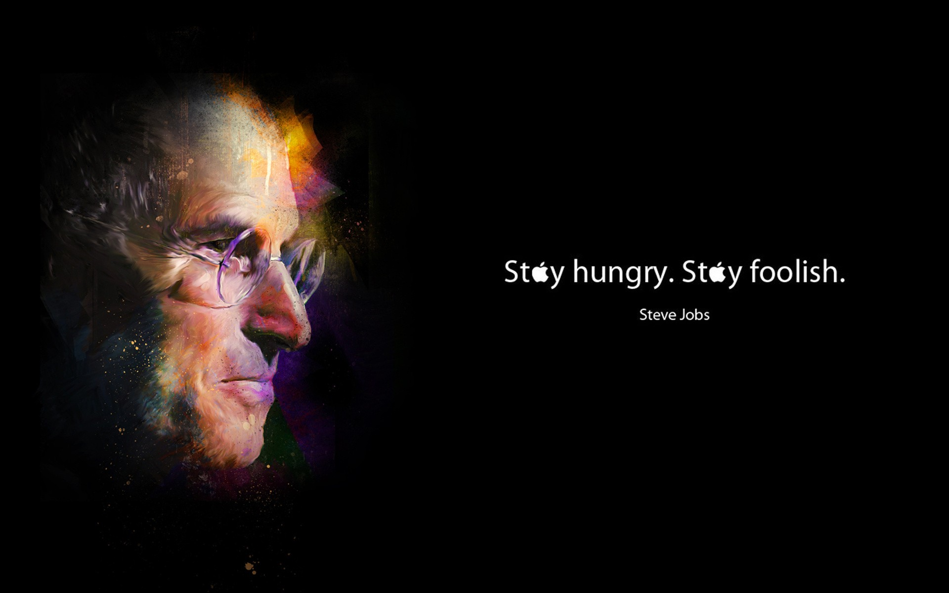 Persistence Quotes Wallpapers Celebrity Steve Jobs Hungry Foolish Wallpaper 1920x1200