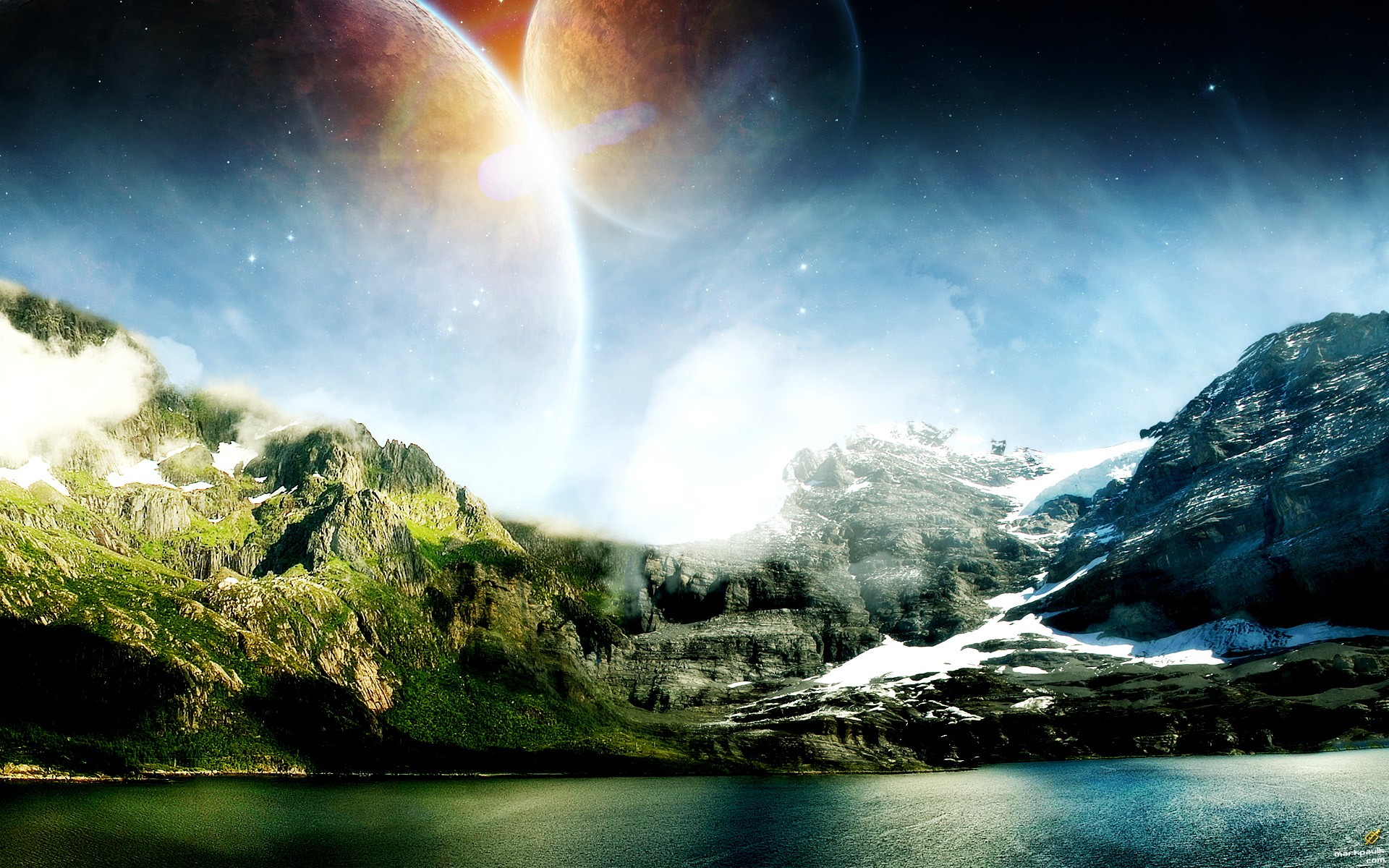 Abstract 3d Wallpapers Free Download Landscapes Planets Science Fiction Wallpaper 1920x1200