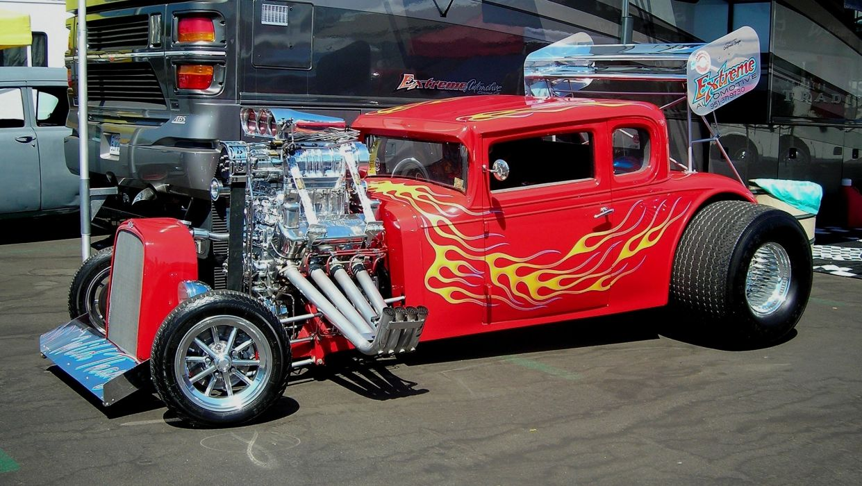 Free Wallpaper Old Cars Vehicles Cars Custom Engine Chrome Hot Rod Classic Old