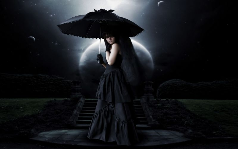 Love Magic Hd Live Wallpaper Manipulation Cg Digital Art Dark Creepy Spooky Umbrella