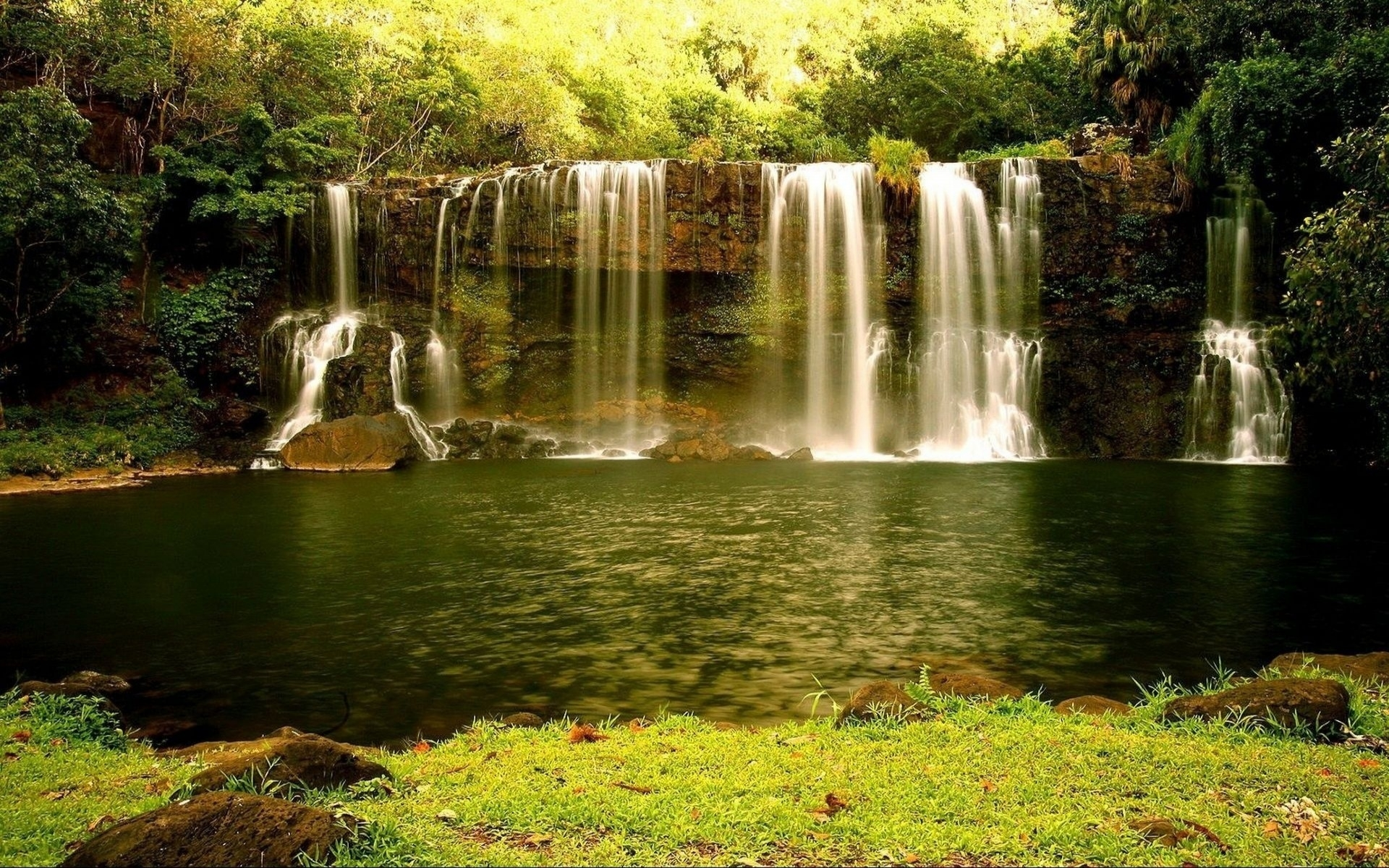 Wallpaper Of Water Fall Nature Landscapes Waterfall Cliff Rock Stone Rivers Stream
