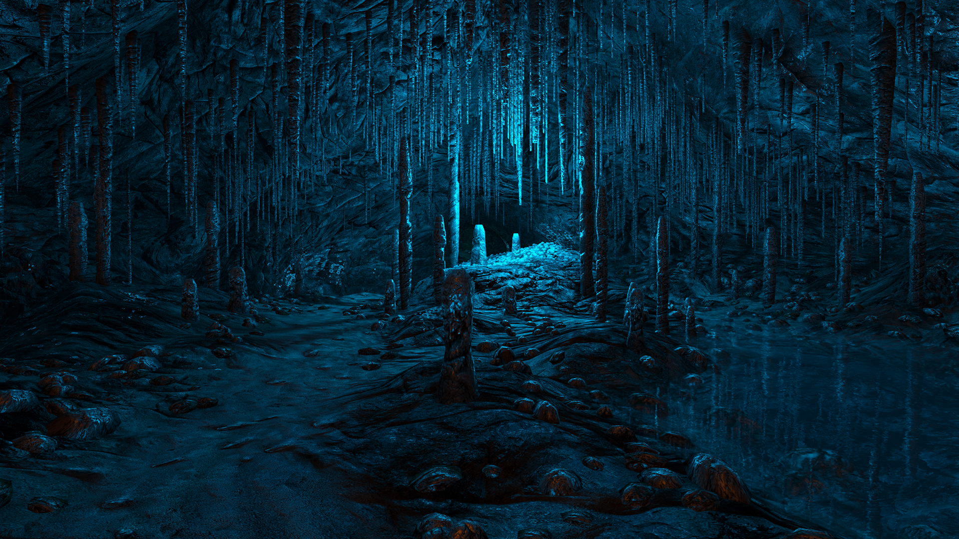 Forest Iphone Wallpaper Dear Esther Video Games Nature Landscapes Cavern Caves