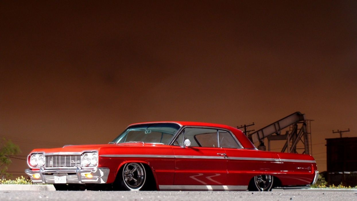 Muscle Car Hd Wallpapers 1080p Chevrolet Impala Tuning Low Red Classic Muscle Cars