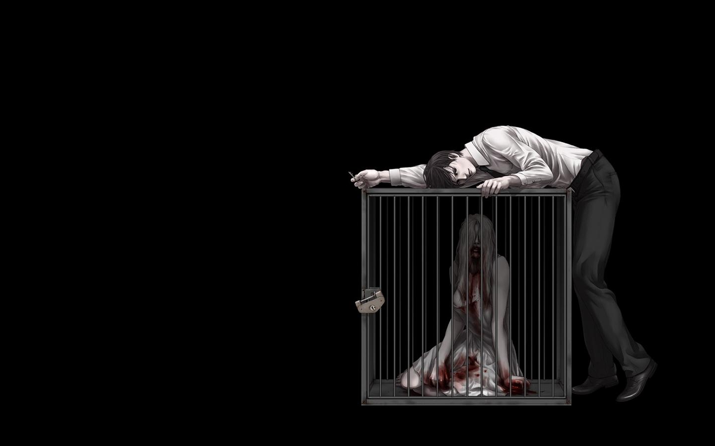 Anime Horror Wallpaper Dark Horror Mood Blood Sas Sorrow Anime Wallpaper