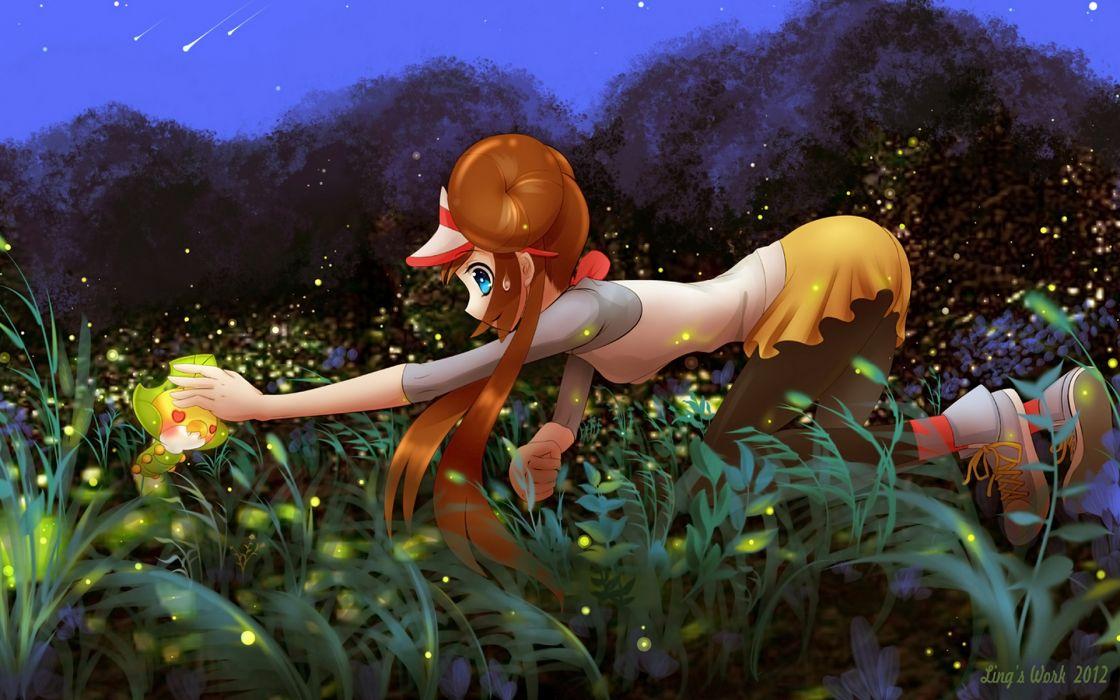 Anime Wallpaper Free Download Pokemon Snivy Girl Wallpaper 1920x1200 34869 Wallpaperup