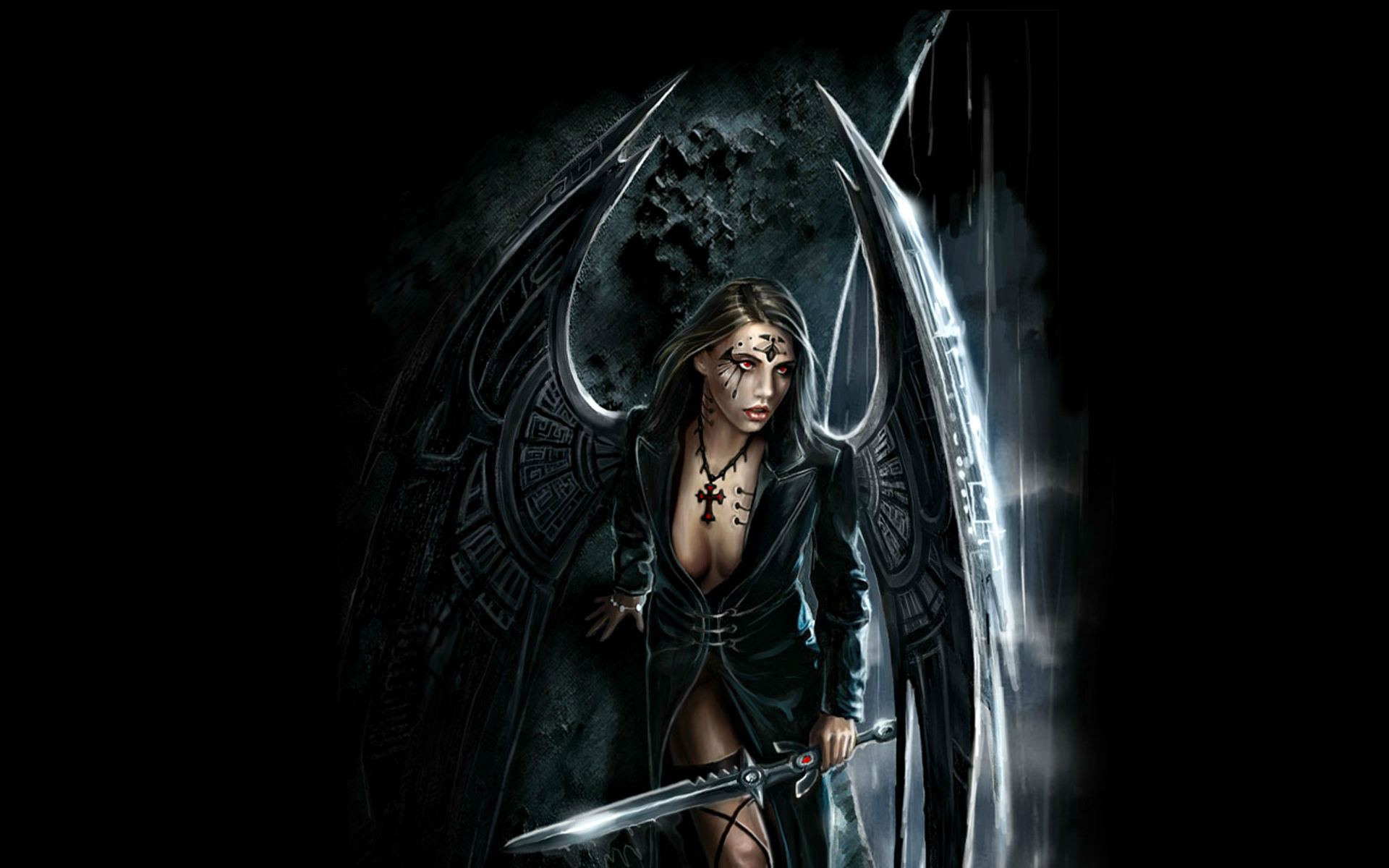 Borderlands 2 Wallpaper Hd Fantasy Art Warriors Gothic Angels Weapons Sword Women