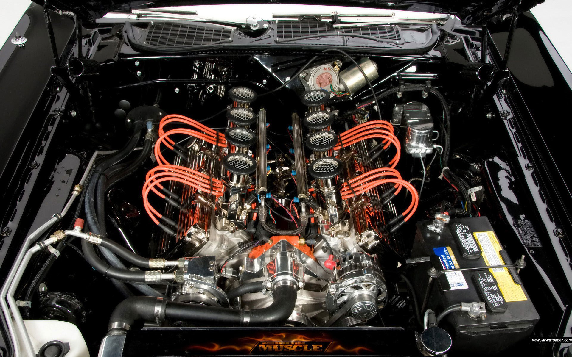 Pics Of Cars Wallpapers Dodge Challenger Engine Hot Rod Muscle Cars Wallpaper