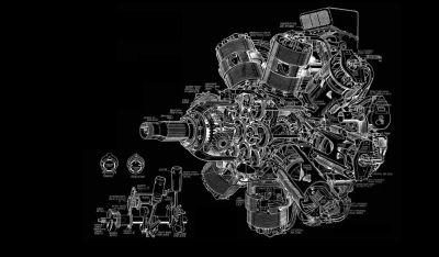 Engine Diagram BW Black aircraft airplane wallpaper | 3244x1900 | 45219 | WallpaperUP