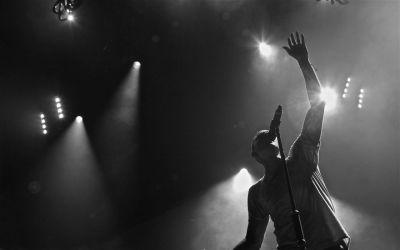 Linkin park monochrome lights concert wallpaper | 1920x1200 | 46182 | WallpaperUP