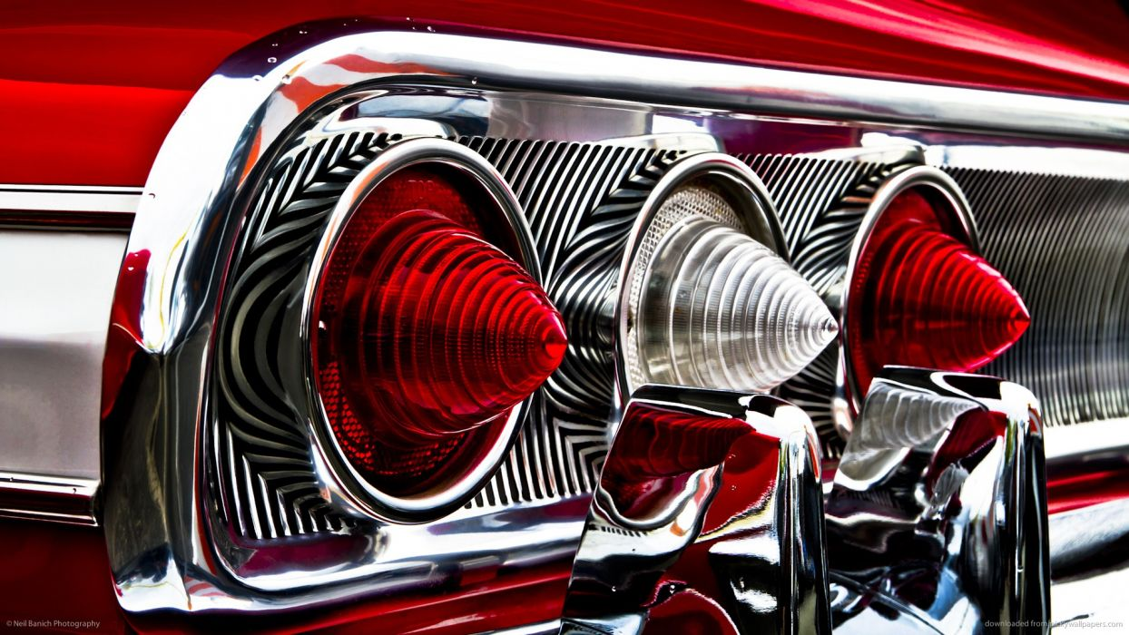Chevy Impala 1967 Wallpaper Hd Classic Car Classic Hot Rod Tail Light Red Chevrolet Chevy