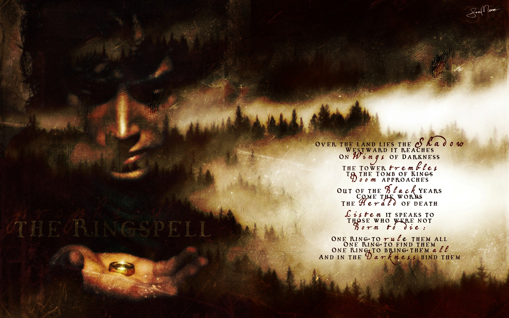 Desktop Wallpaper Tolkien Quote Lotr Quotes Wallpaper Quotesgram