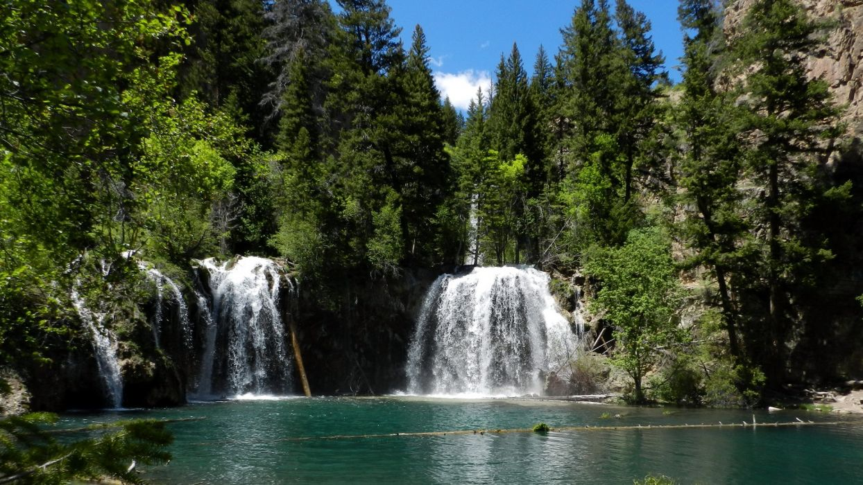 3d Free Fall Nature Wallpaper Water Landscapes Nature Trees Forest Lakes Waterfalls