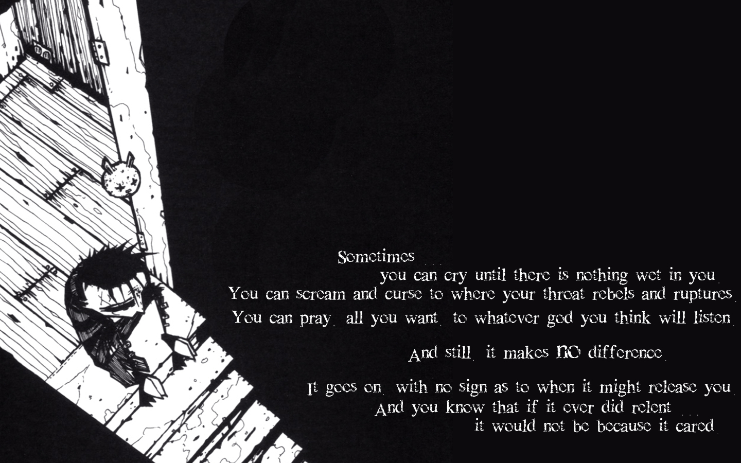 Chevron Quote Wallpaper Quotes Monochrome Johnny The Homicidal Maniac Wallpaper