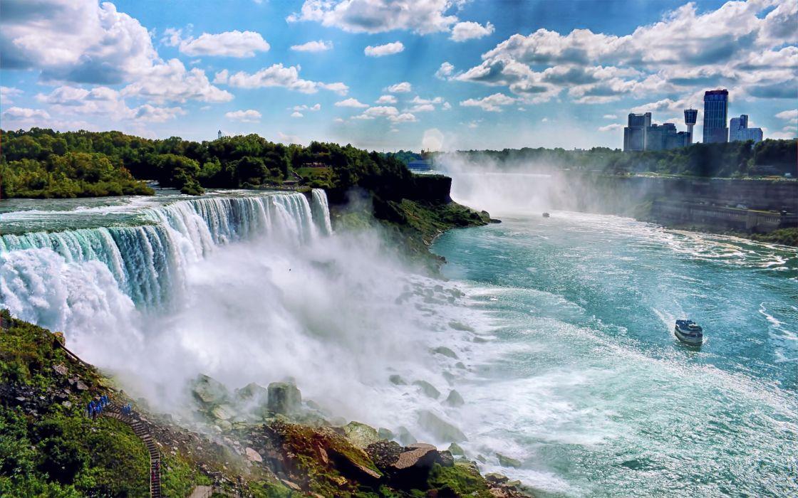 Niagara Falls 4k Wallpaper Landscapes Nature Usa New York City Niagara Falls