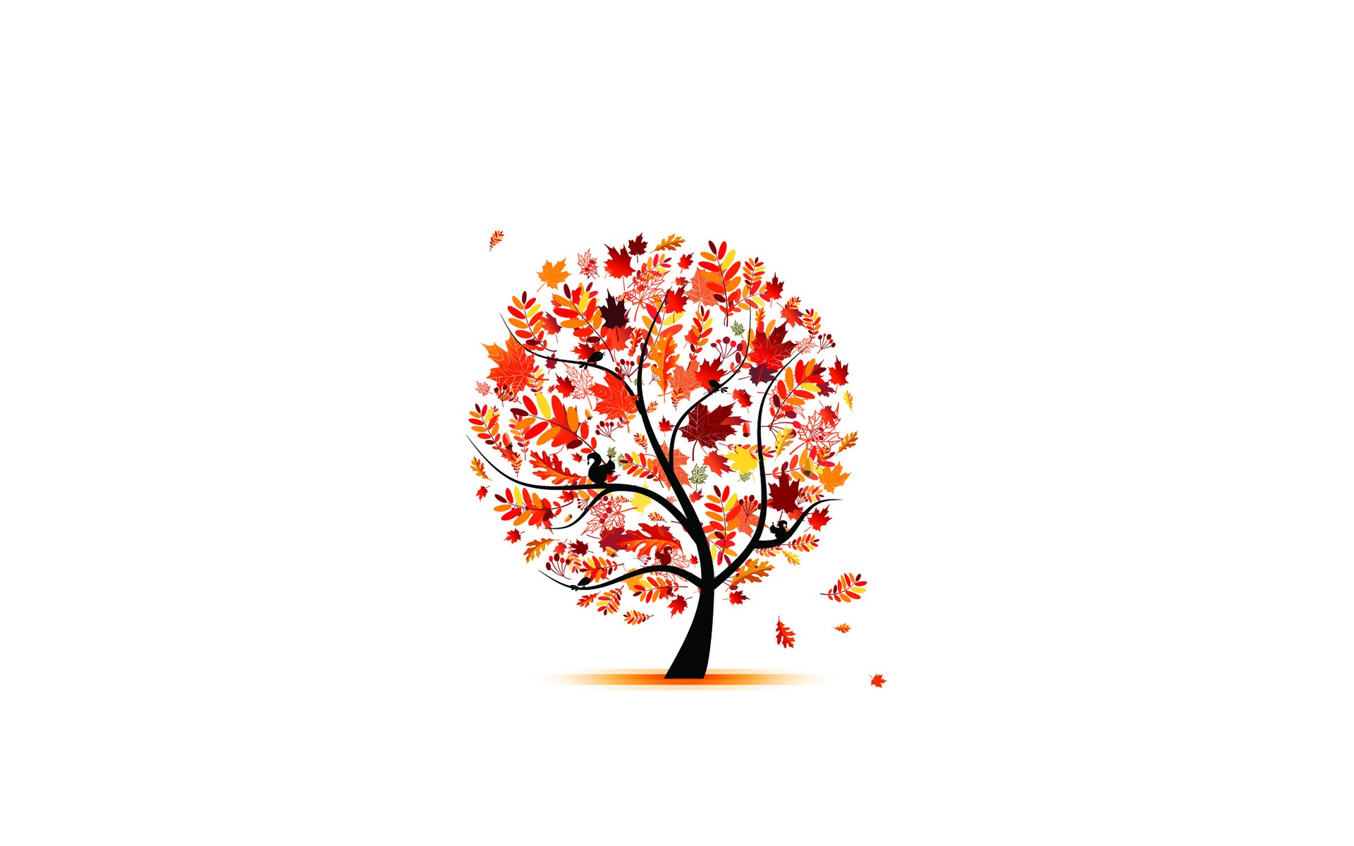 Vector Wallpaper Fall Colors Minimalistic Simple Background Wallpaper 1920x1200