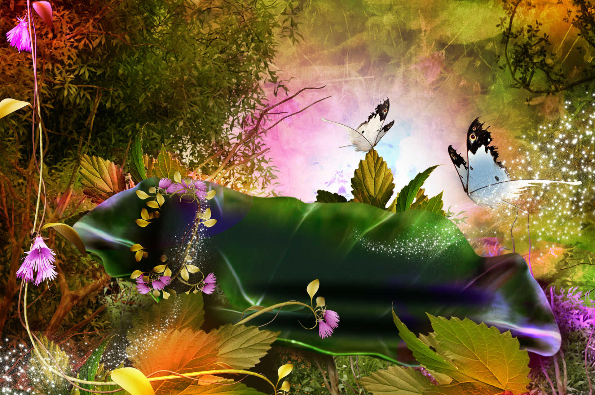 Fall Season Live Wallpaper For Android 3d Nature Phantasmagoria Butterfly Leaves Forest Magic