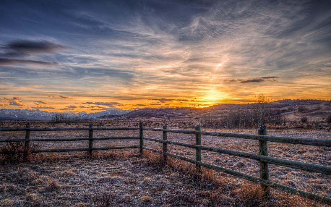 Fall Wallpapers For Desktop Idaho Landscape Canada Alberta Stoney Indian Reserve Sunset