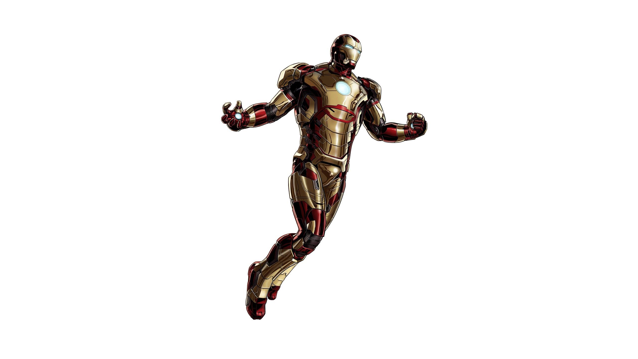 Iron Man 3d Wallpaper Download Iron Man White Comics Movies Superhero Wallpaper