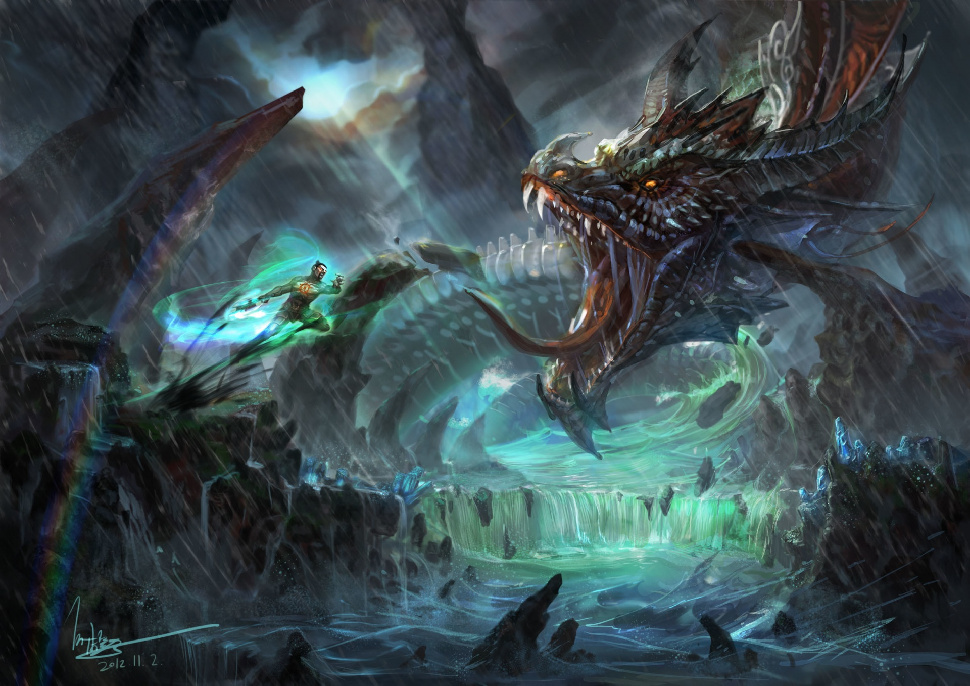 Fantasy Forest 3d Live Wallpaper Battles Monsters Fantasy Dragon Dragons Warrior Warriors
