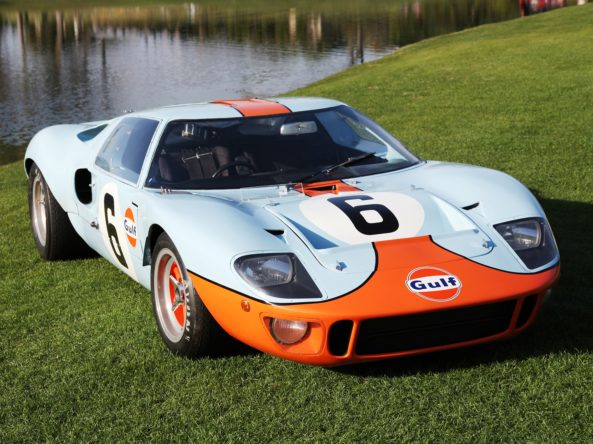 Wallpaper Super Cars Download 1968 Ford Gt40 Gulf Oil Le Mans Race Racing Supercar