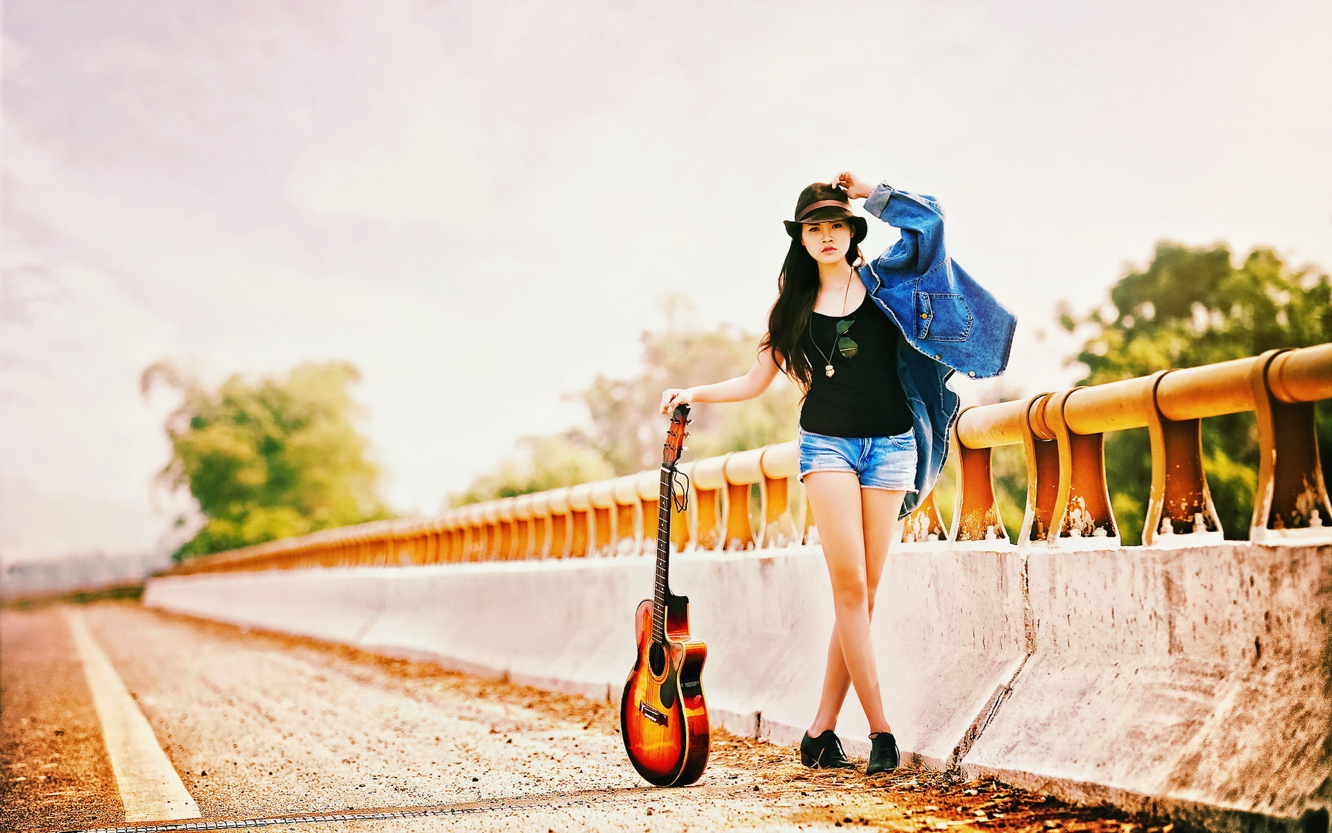 Guitar Wallpaper For Facebook Profile Girl Girl Guitar Music Mood G Wallpaper 1920x1200 162780