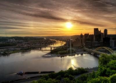 Pittsburgh Pennsylvania USA dawn landscape river hdr wallpaper | 2048x1463 | 163331 | WallpaperUP