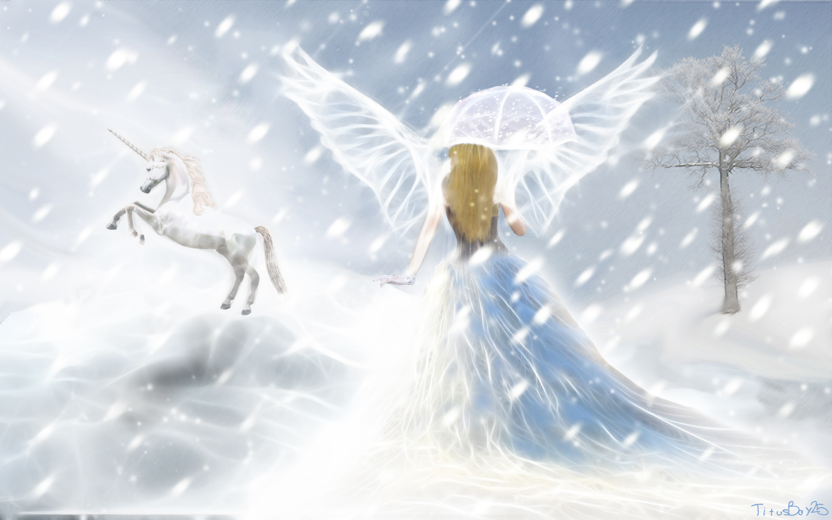 Abstract Animal Wallpaper Unicorn Horse Magical Animal Fairy Angel Mood G Wallpaper