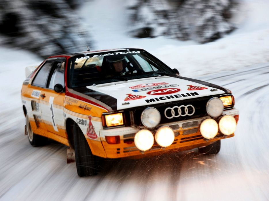 Small Size Car Wallpapers Snow Rally Audi Quattro Speed Rally Car Wallpaper