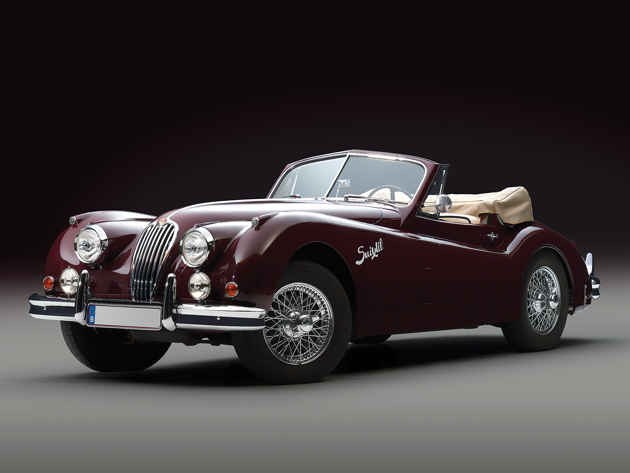 Jaguar Car Wallpapers Hd Free Download 1954 Jaguar Xk140 Drophead Coupe Retro T Wallpaper